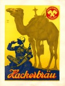 Advert for Hackerbrau Beer