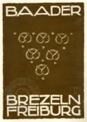 Advert for Baader Pretzels