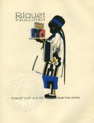Advert for Riquetta Chocolate