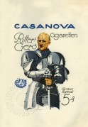 Advert for Casanova Cigarettes