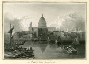 St Pauls Cathedral, from Bankside, London