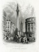 The Monument and St Magnus Church, London