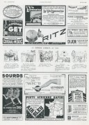 Collection of small adverts from 1936