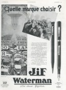 Advert for Waterman Pens