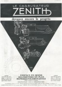 Advert for Zenith Motor Parts