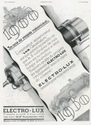 Advert for Electro-Lux Vacuum Cleaners
