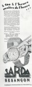 Advert for Sarda Besancon watches