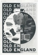 Advert for Old England men's clothing