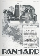 Advert for Panhard Cars