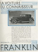 Advert for Franklin Cars