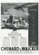 Advert for Chenard-Walcker cars
