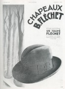 Advert for Hats by B.Flechet