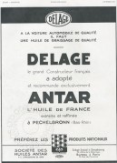 Advert for Delage Cars