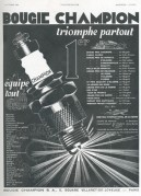 Advert for Champion Spark Plugs