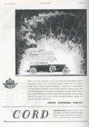 Advert for CORD Automobiles