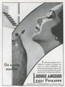 Advert for Le Rouge Angelus Lipsticks