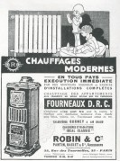Advert for Modern Heating Systems by Robin & Co
