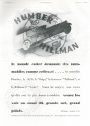 Advert for the Humber Hillman