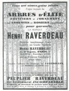 Advert for Henri Raverdeau Trees