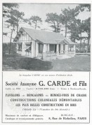 Advert for Carde Bungalows