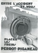 Advert for Perrot-Piganeau car brakes