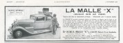 Advert for La Malle X car luggage carrier