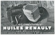 Advert for Renault Oil