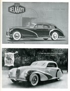 Two car adverts for Delahaye and Faget Varnet