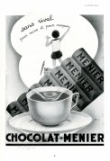 Advert for Menier Chocolate Drink
