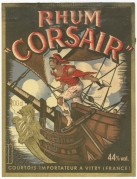 Rhum Corsair label