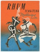 Rhum Martinique Tcha-Tcha label