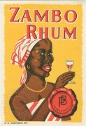 Zambo Rhum label