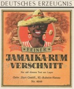 Jamaika Rum label, printers sample