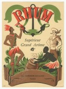Rhum Grand Arome label