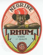 Negrine Rhum label from Belgium