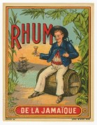 Rhum de la Jamaique label from Belgium