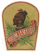 Rhum Jamaique label