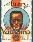 Rhum Valentino label from Belgium
