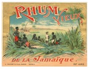 Rhum Vieux de la Jamaique label from Paris