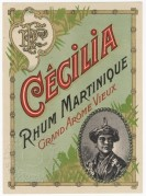 Cecillia Rhum Martinique label