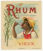 Rhum Vieux label from Paris