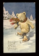 Skating bear New Year's card