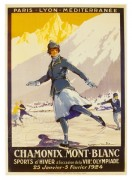 Poster for Chamonix Mont Blanc Winter Olympics
