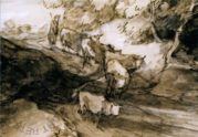 Wooded Landscape with Herdsman and Cattle