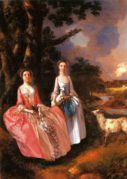 Mrs Mary Cobbold with her Daughter Anne in a Landscape with a Lamb and a Ewe