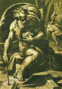 Ugo da Carpi, after Parmigianino, Diogenes (detail)