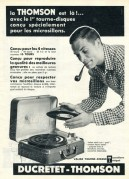 Advert for Ducretet-Thomson Record Players