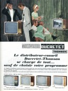 Advert for Ducretet-Thomson Televisions