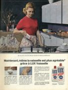 Advert for Lux Washing Up Liquid