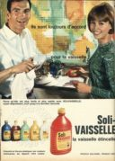 Advert for Soli-Vaseille Washing Up Liquid